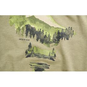 United By Blue Walk In The Woods T-shirt à col ras-du-cou à motif Homme, olive